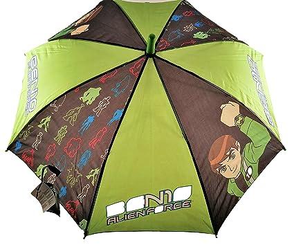 Paraguas Automatico Infantil Ben 10 para niños 45 cm: Amazon ...