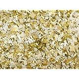White Gold Confetti Mix Biodegradable Party Decor (60g/2oz)