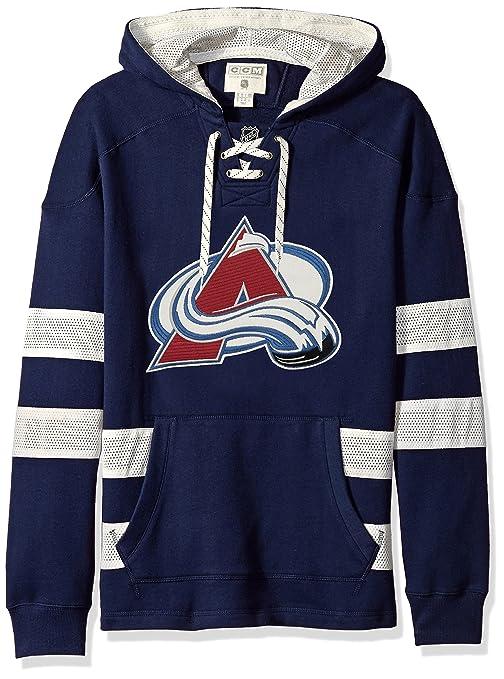 Buy NHL Colorado Avalanche CCM Pullover Jersey Hood, Navy, X