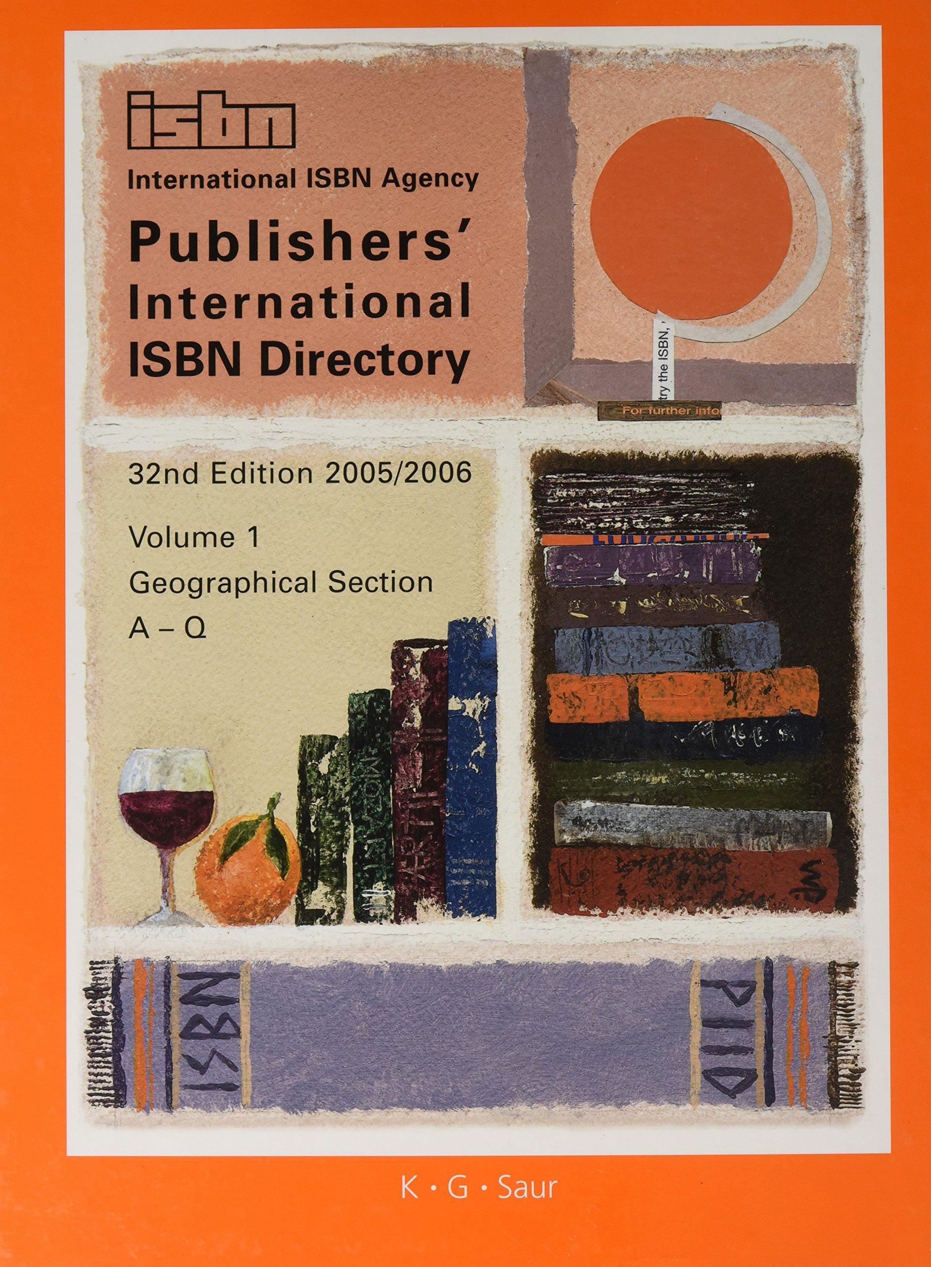 Publishers' International ISBN Directory 2005/2006 (Handbook of International Documentation and Information) pdf