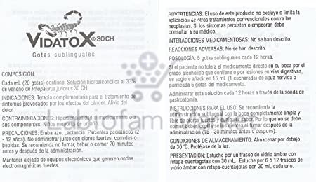 Amazon.com: Vidatox TRJ-30CH (Scorpion) Natural Homeopathic Treatment by Labiofam (Green): Beauty