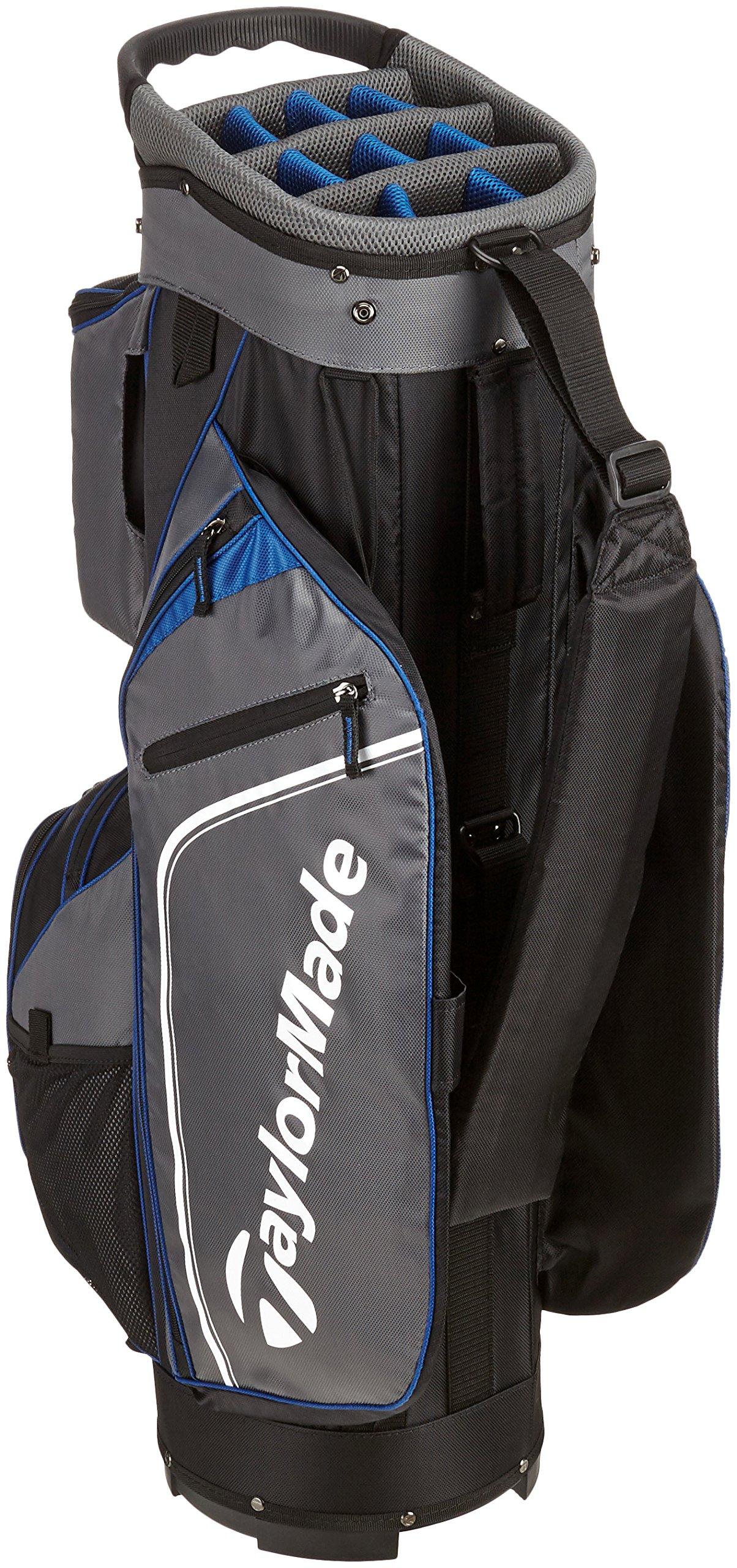 TaylorMade Pro Cart 4.0 Cart Bag 2016 Black/Grey/Blue by TaylorMade (Image #2)