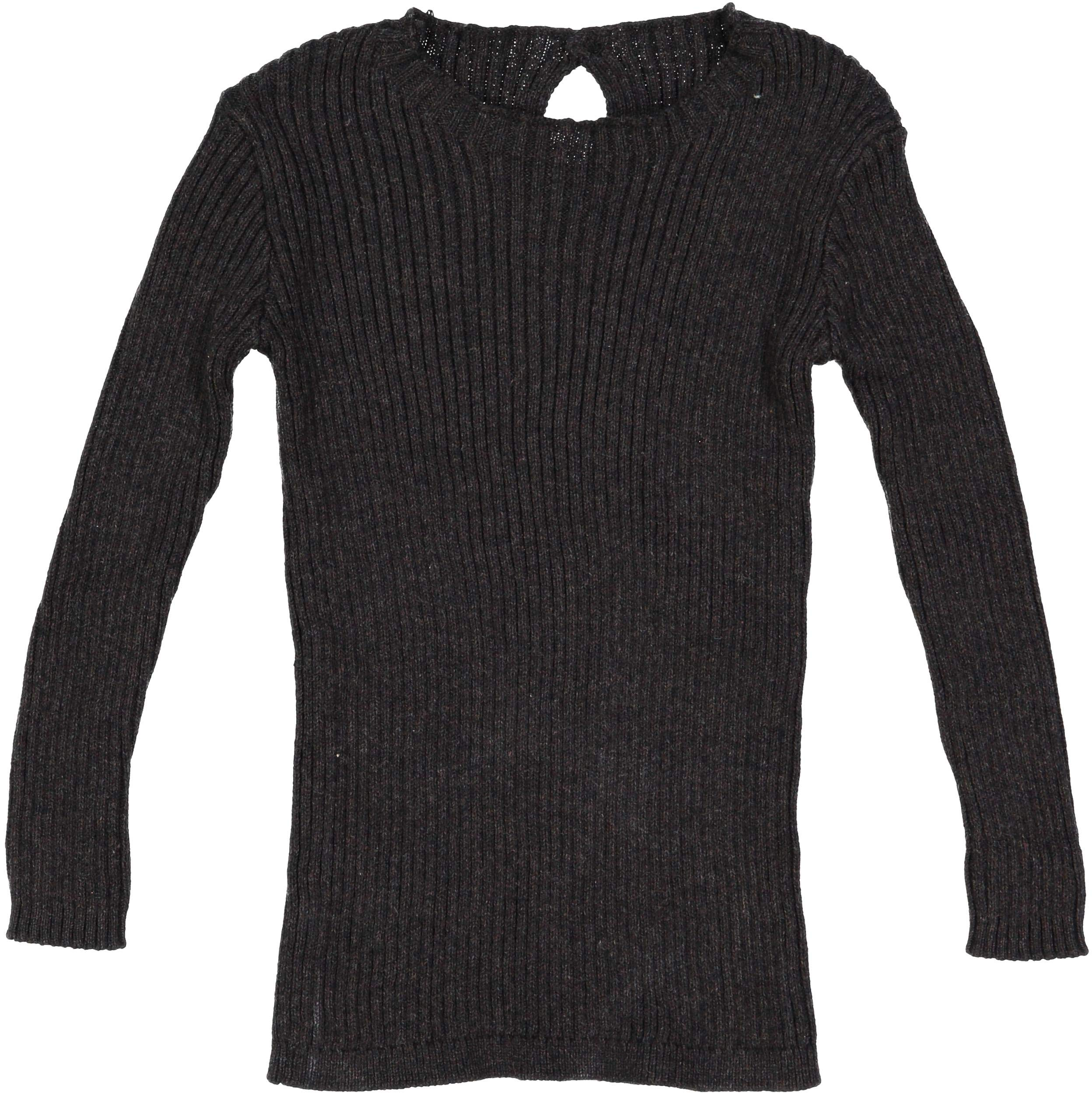 Analogie by Lil Legs Baby Boys Girls Unisex Winter Ribbed Knit Long Sleeve T-Shirt Sweater - Marled Black, 6 Months by Analogie by Lil Legs