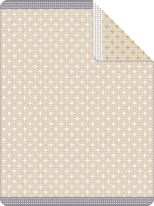 Ibena Wohndecke beige grau Größe 150x200 cm