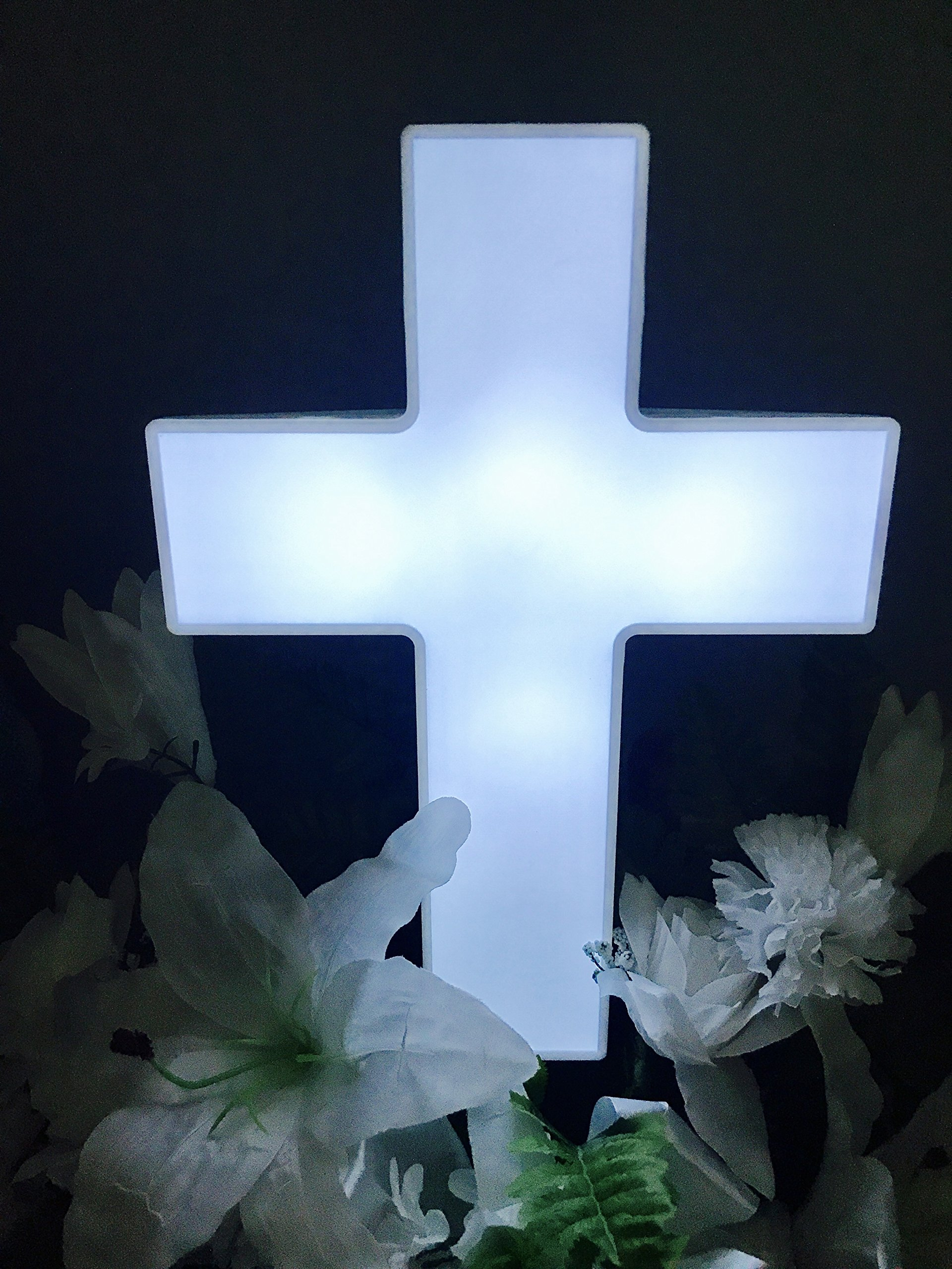 Eternal Light Cross Solar Lighted Cross For Cemetery And Grave