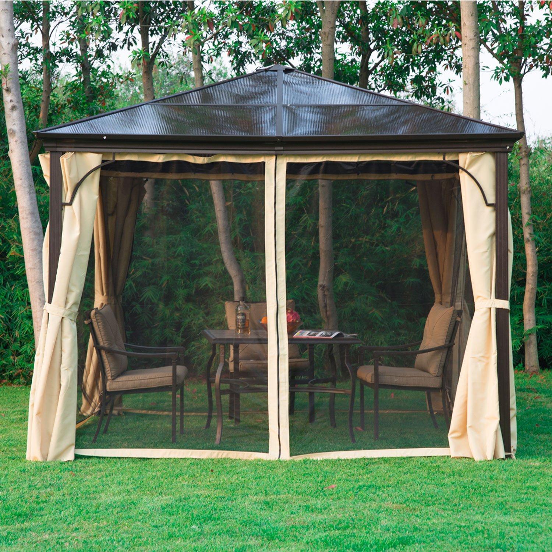 pavillon mit festem dach elegant rund metall pavillion metall pavillon pavilion laube modena. Black Bedroom Furniture Sets. Home Design Ideas