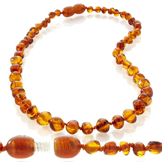 Organic Baltic Teething Amber Hand Made in Lithuania Amber Baby Cognac 100/% BPA Free Baby Chew Bead Necklace and Silicone Teething Necklace Gift Set for Mom and Baby Baltic Amber Teething Necklace for Baby