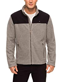 Tommy Hilfiger Mens Classic Zip Front Polar Fleece Jacket Fleece Jacket