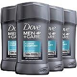 Dove Men+Care Antiperspirant Deodorant Stick Clean Comfort 2.7 oz 4 count