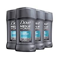 Dove Men+Care Antiperspirant Deodorant 48-Hour Wetness Protection Clean Comfort Non-Irritant Deodorant for Men 2.7 oz, 4 Count (Packaging may vary)