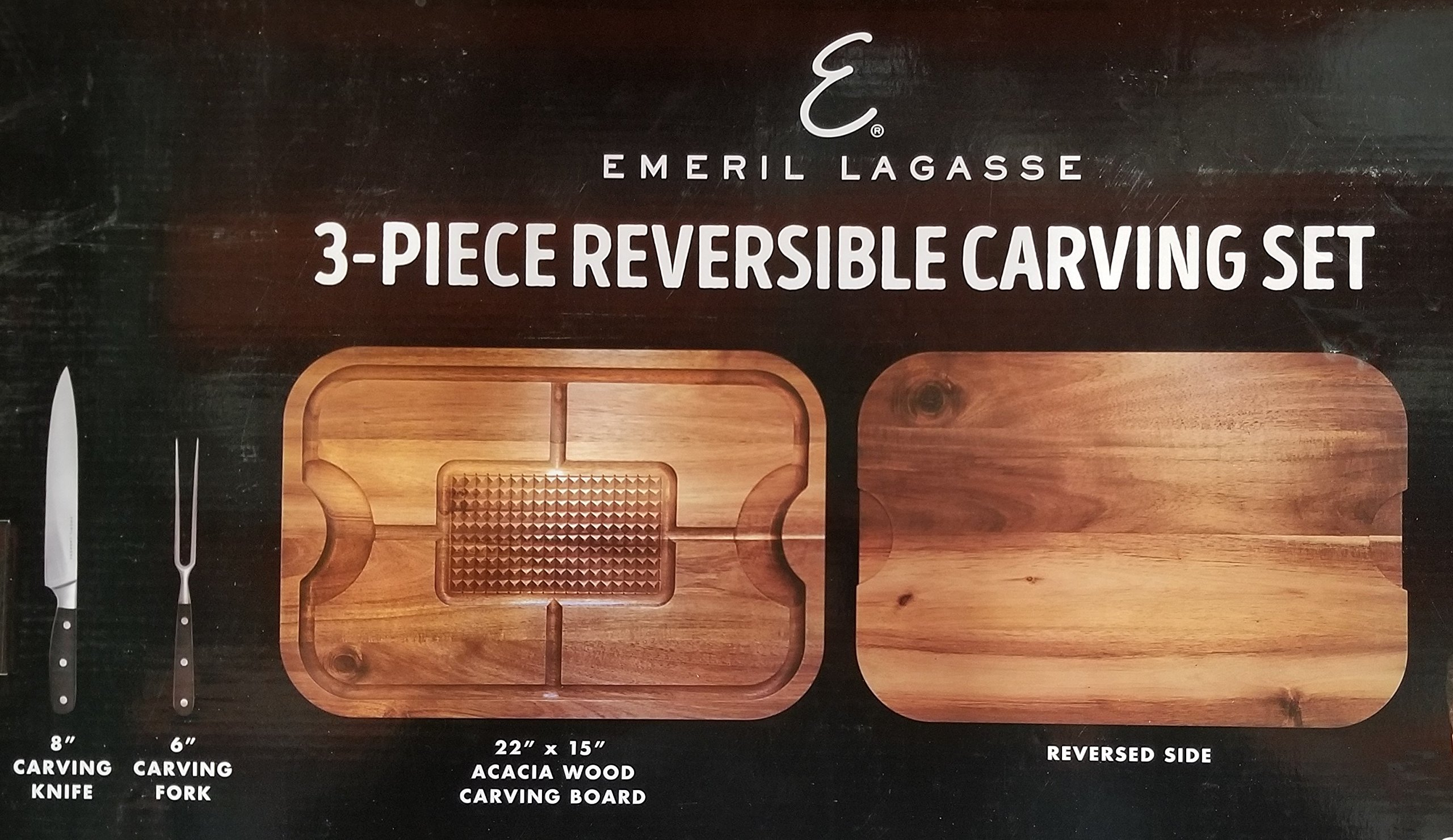 Emeril Lagasse 3 piece Reversible Carving Set