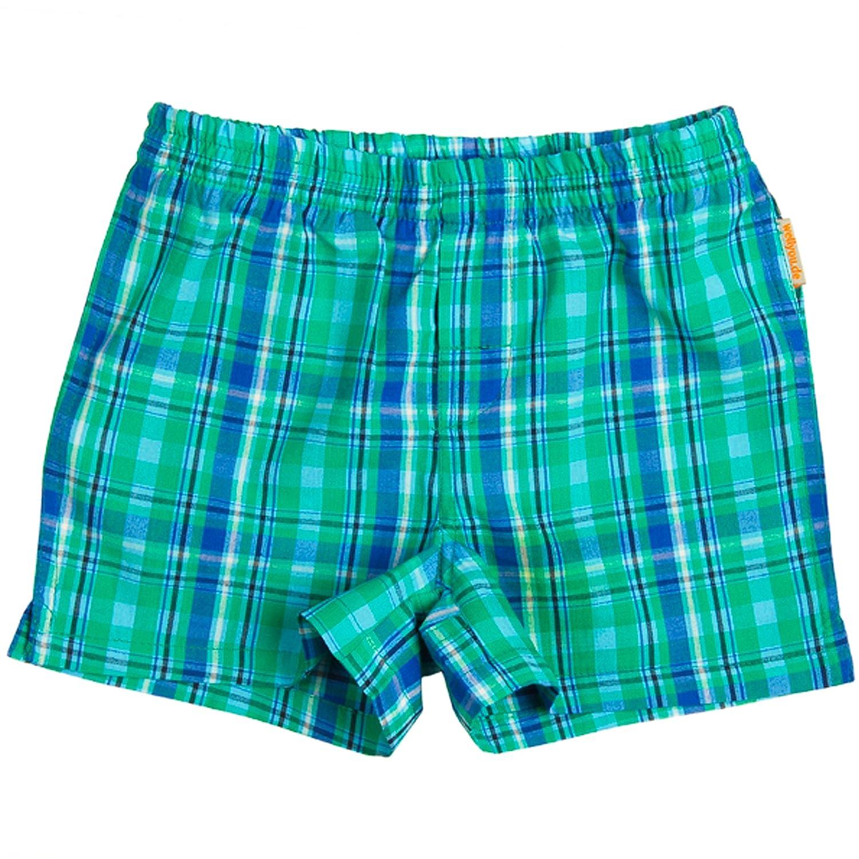 wellyou Kinder Boxershorts grün/blau kariert