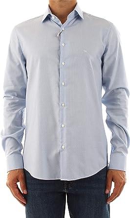 Calvin Klein Camisa azul claro 41: Amazon.es: Ropa y accesorios