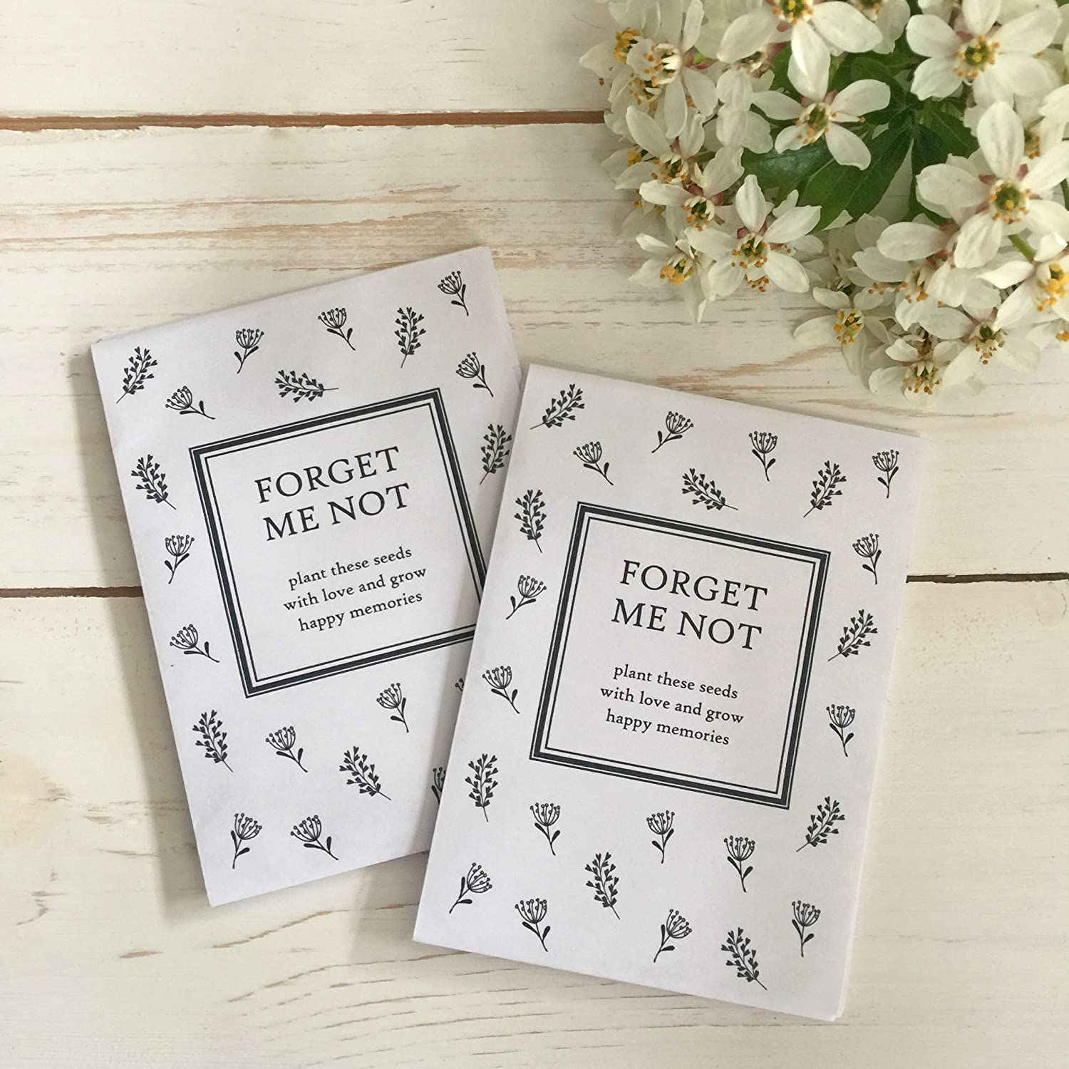 Amazon.com: 25 Unfilled Forget Me Not Seed Packet Funeral Favor ...