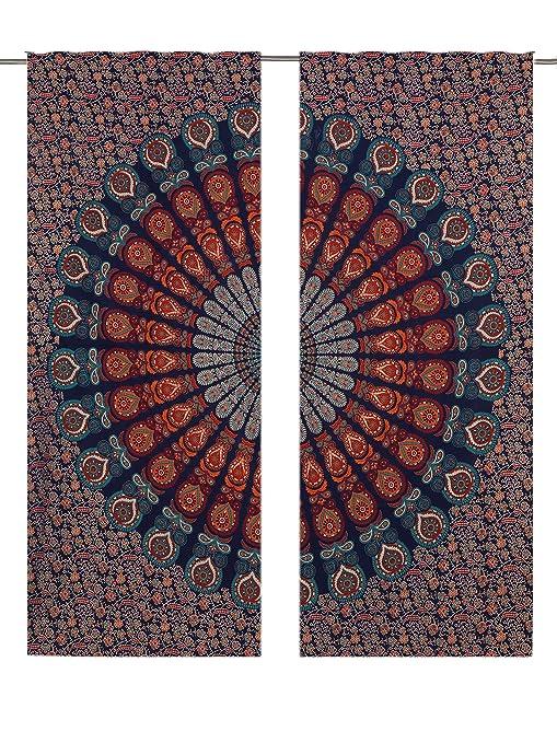 Curtains Pelmets Indian Tie Dye Elephant Curtains Hippie Tapestry Room Decor Boho Door Drapes Home Furniture Diy Omnitel Com Na