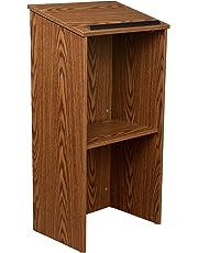 Oklahoma Sound 222-MO Full Floor Lectern, 23-Inch Width x 46-1/2-Inch Height x 16-Inch Depth, Medium Oak