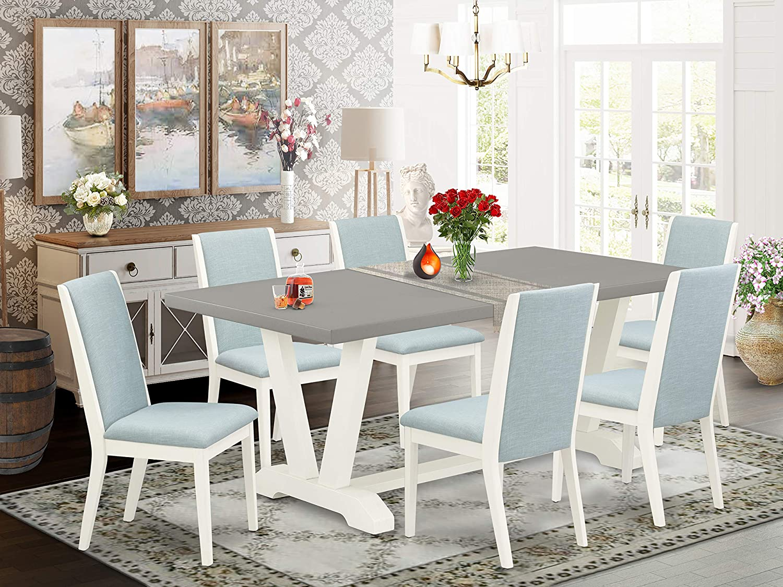 East West Furniture V097LA015-7 Dining Table Set, 72 x 42