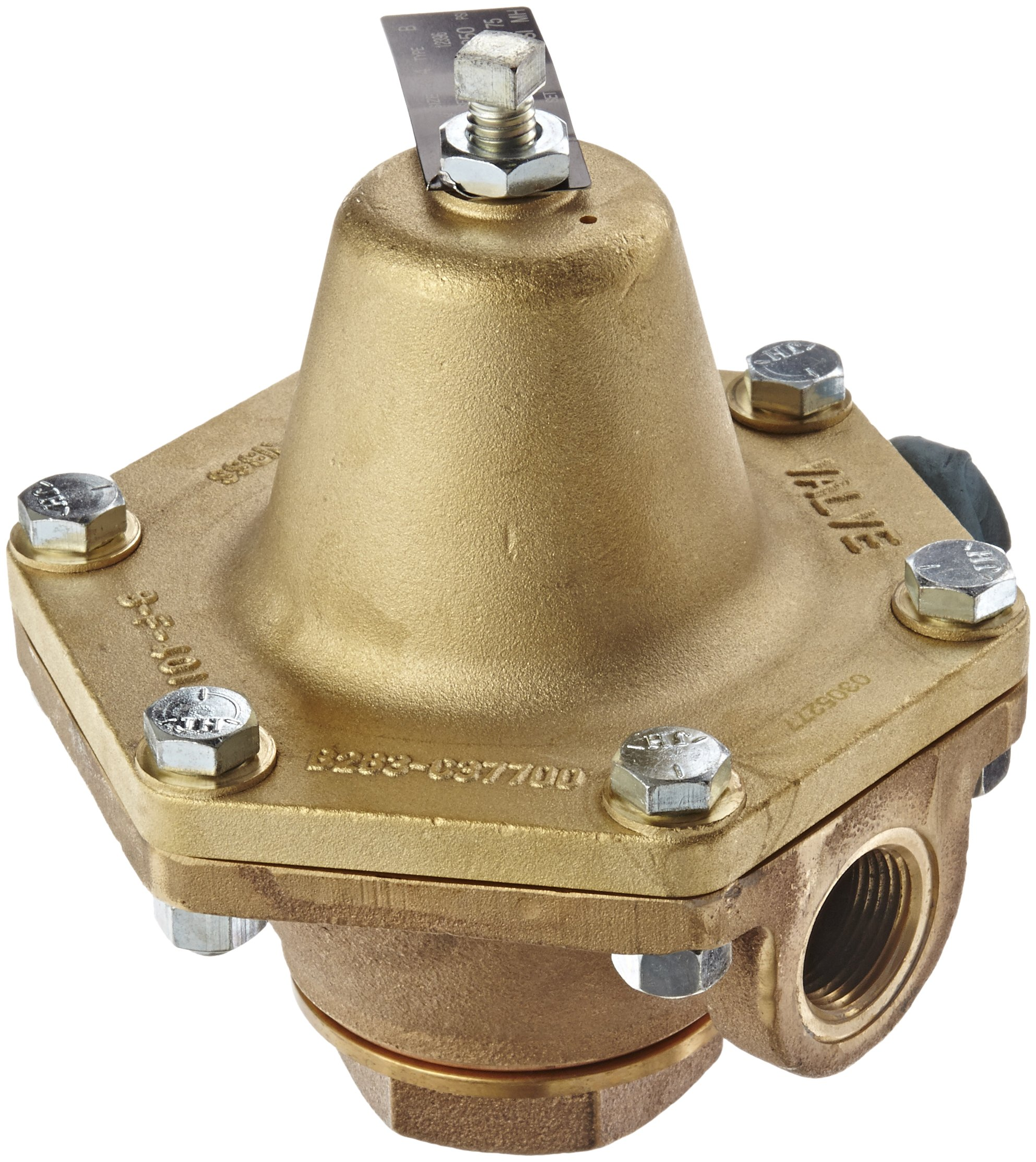Cash Valve 12396-0053 Bronze Pressure Regulator, 30 - 75 PSI Pressure Range, 3/4'' NPT Female by Cash Valve