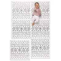 Lillefolk Modern Baby Play Mat - Soft, Thick, Non-Toxic Foam - 6ft x 4ft - Large Kids Floor Mat with Interlocking Puzzle Tiles for Crawling and Tummy Time (Boho)