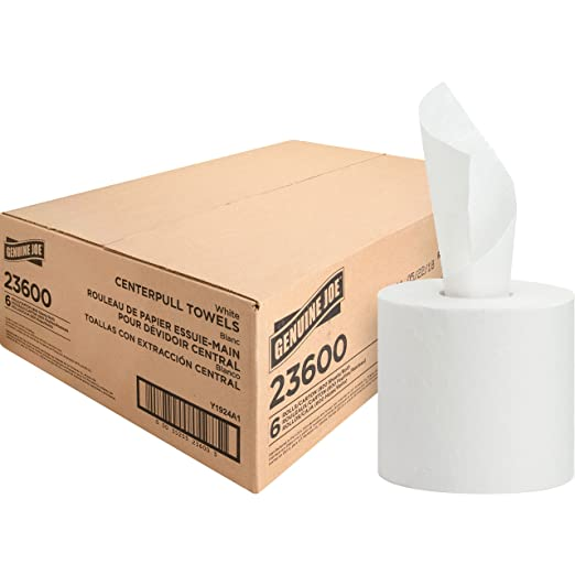 Amazon.com: Genuine Joe 23600 Centerpull Towels, 600Shts, 6RL/CT, White: Health & Personal Care