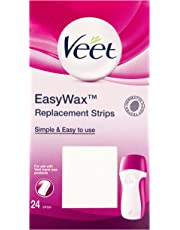 Veet Easy Wax Electrical Roll On Replacement Waxing Strips - Pack of 24