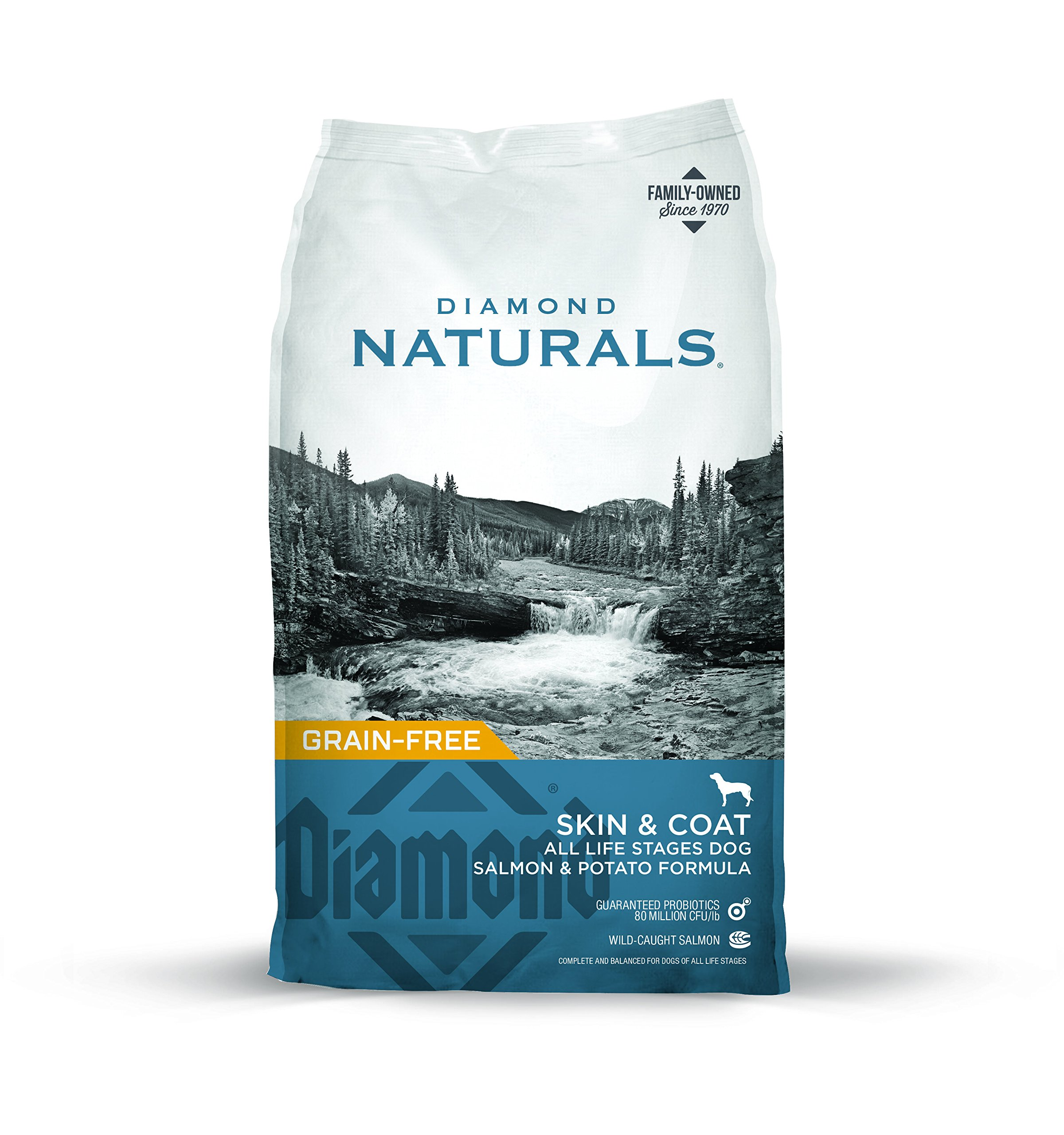 Diamond Naturals Skin & Coat Real Meat Recipe Dry Dog Food with Natural Ingredients and Wild Caught Salmon