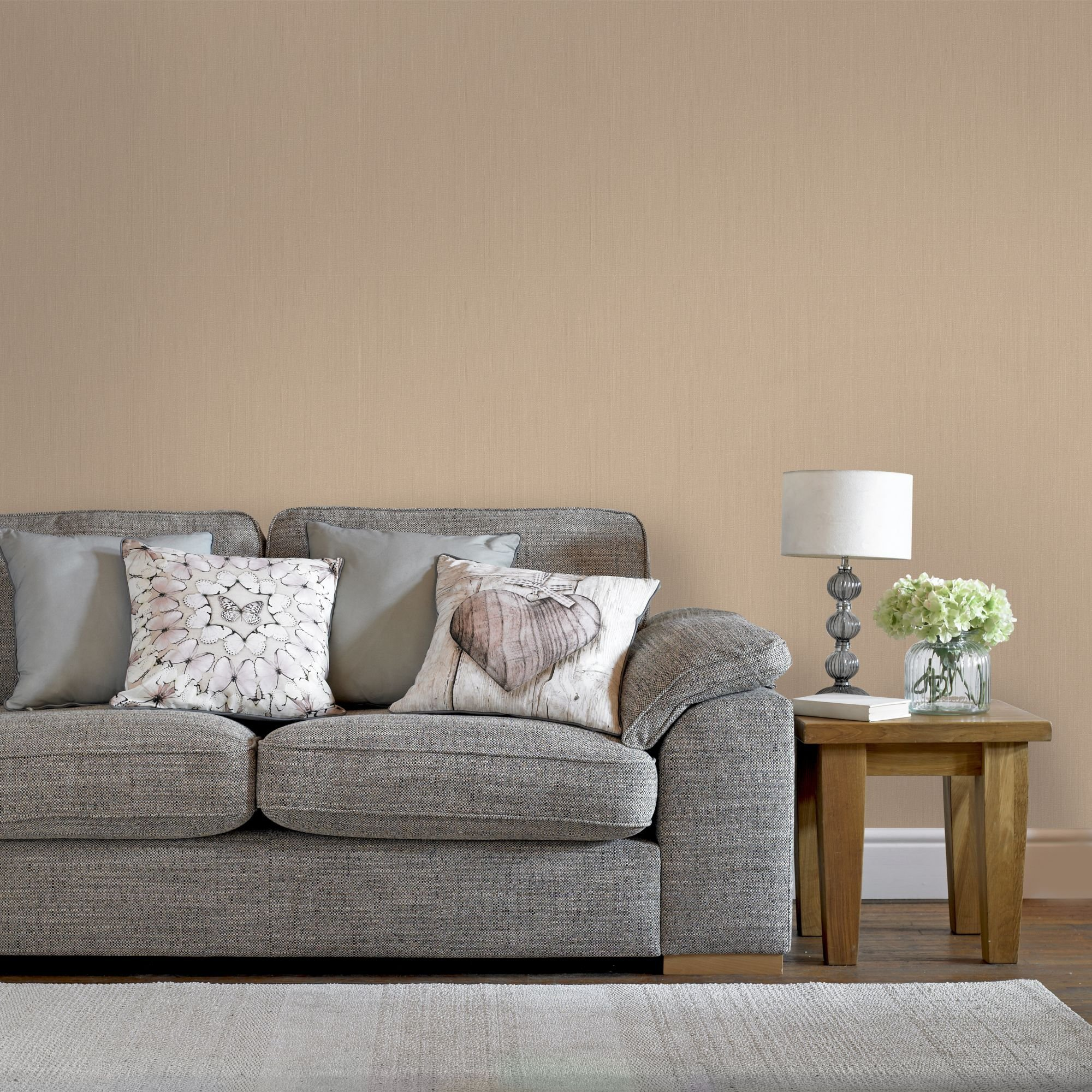 Boutique Organza Plain Textured Gold Wallpaper