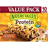 Nature Valley Protein Chewy Bar Gluten Free Peanut Butter Dark Chocolate Value Pack 10 - 1.42 oz Bars