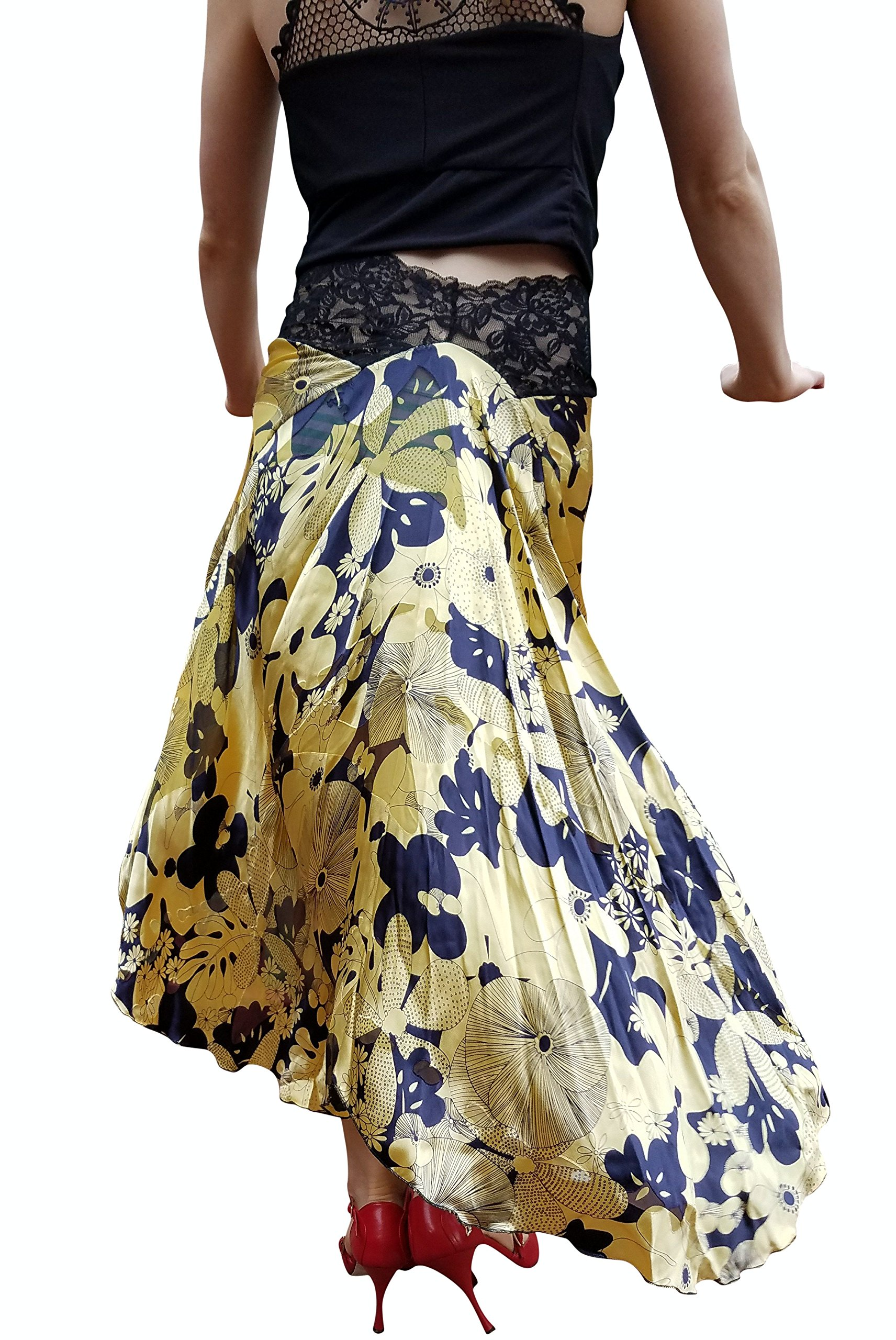 tango skirt Argentine tango silk