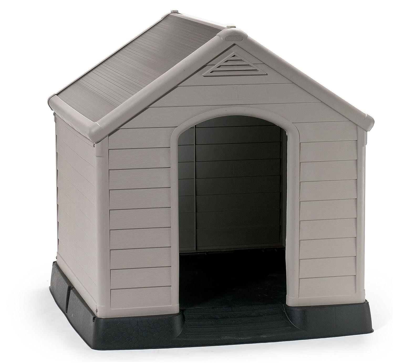 Keter Caseta de perro suelo elevado sistema de ventilación