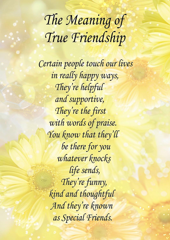 True Friendship Poem Verse Greeting Card 8x6 Mix Match On 8x6