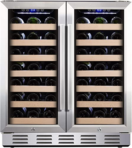 Kalamera-30''-Wine-Cooler-66-Bottle-Dual-Zone-Built-in-and-Freestanding