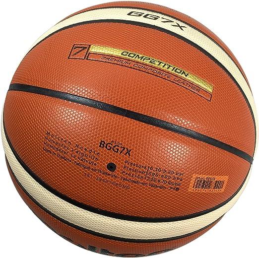 Molten GG7X Basketball (BGG7X) Pelota de baloncesto de cuero ...