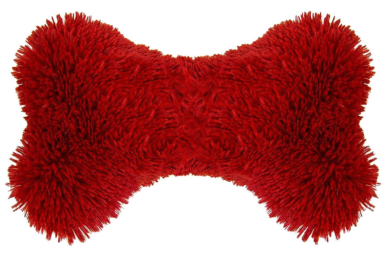 BESSIE AND BARNIE Deluxe Extra Plush Faux Fur Lipstick Shag Pet Dog Luxury Fashion Bone Toy Pillow