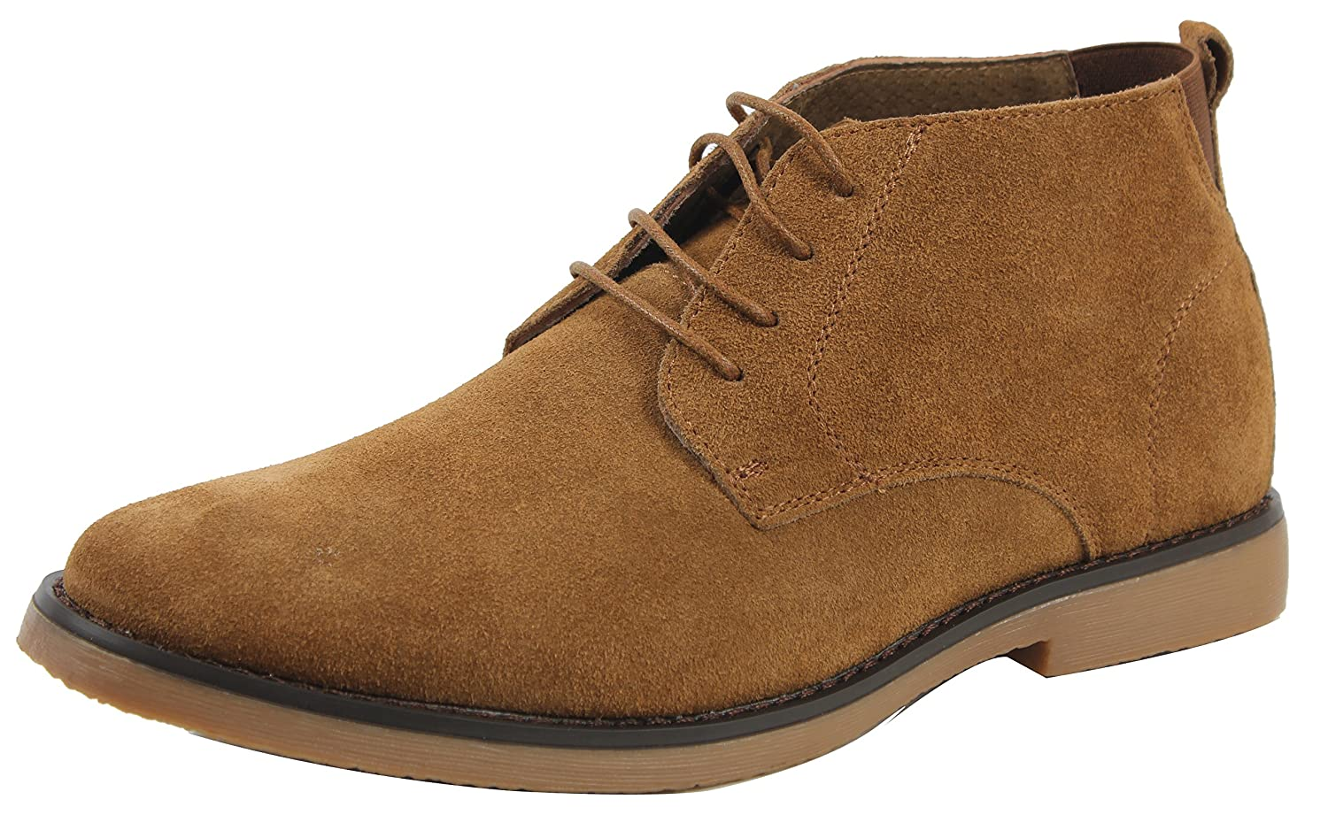 MAH Men's Chukka Suede Leather High Top Lace Up Chukka Boot