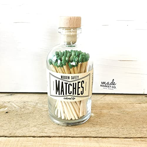 Best Seller Most Popular Item Farmhouse Home Decor Match Sticks Decorative Glass Bottle Unique Gifts for her Yellow Tip Colored Matches
