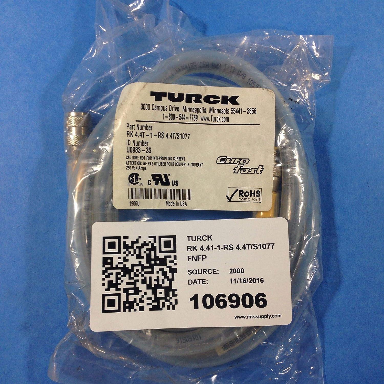 Amazon com: Turck RK 4 41-1-RS 4 4T/S1077 Eurofast Cordset