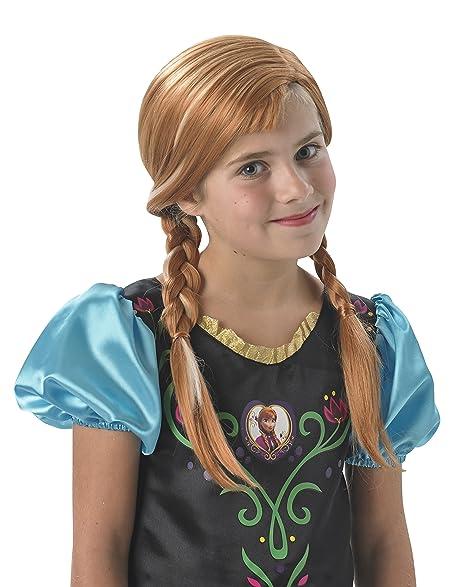 Frozen - Peluca de Anna con trenzas para niña, Talla única infantil (Rubies 36172)