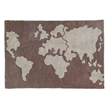 Amazon lorena canals world map washable childrens rug lorena canals world map washable childrens rug machine washable perfect for the nursery gumiabroncs Image collections
