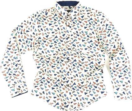 TRANKILO Camisa Manga Larga Avion de Papel. (XXL): Amazon.es: Ropa y accesorios