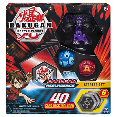 Bakugan, Battle Brawlers Starter Set with Transforming Creatures, Darkus Hydranoid, for Ages 6 & Up: Toys & Games