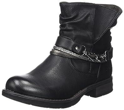 Tom Tailor 3795602, Bottes Motardes Femme, (Black), 38 EU