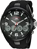 U.S. Polo Assn. Men's Analog-Quartz Watch with Rubber Strap, Black, 27 (Model: US9596)