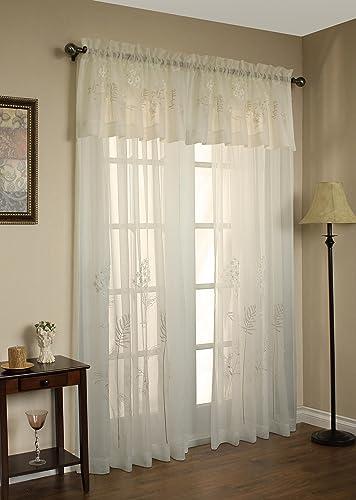 Commonwealth Hydrangea 95 Rod Pocket Curtain Panel in Cream