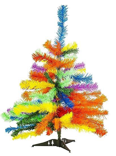 Amazon.com: Funny Guy Mugs 2' Premium Rainbow Tie Dye Christmas Tree ...