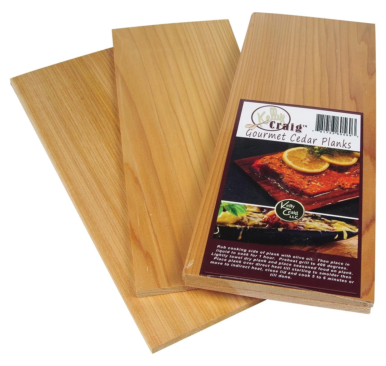 Kelly Craig 6809 Single Wood Blended Smoking Oven Planks, 11.75' x 6' x .75', Cedar Maple 11.75 x 6 x .75