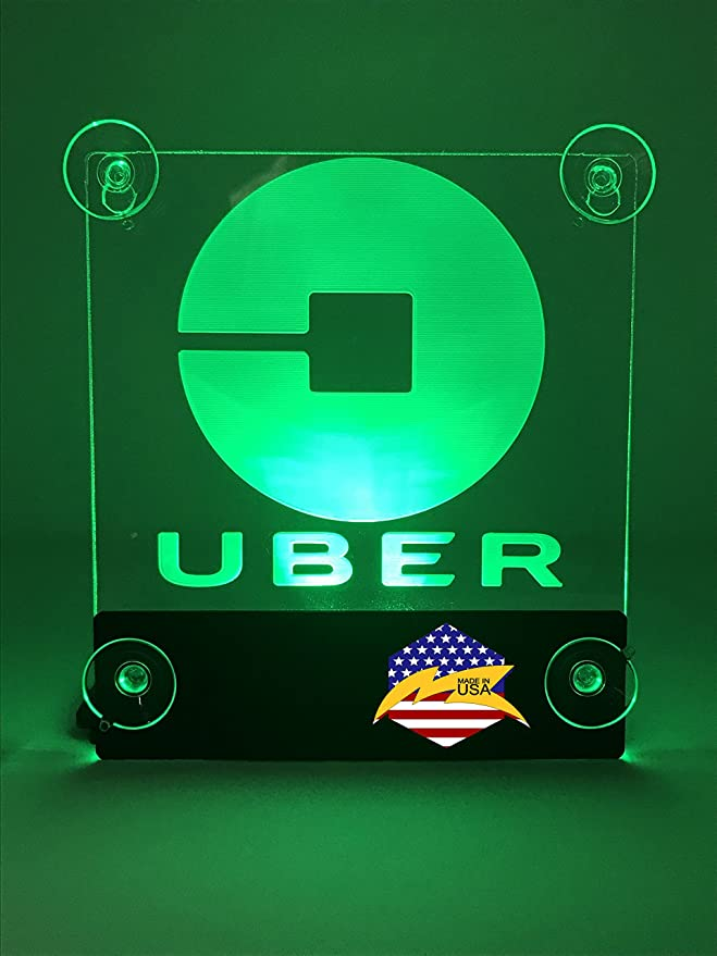 Amazon.com: UBER Sign Glow LED Light Logo Removable Car Driver Window Decal Sticker w Rechargeable Batteries - Taxi Rideshare Accessories Bundle: Home & ...