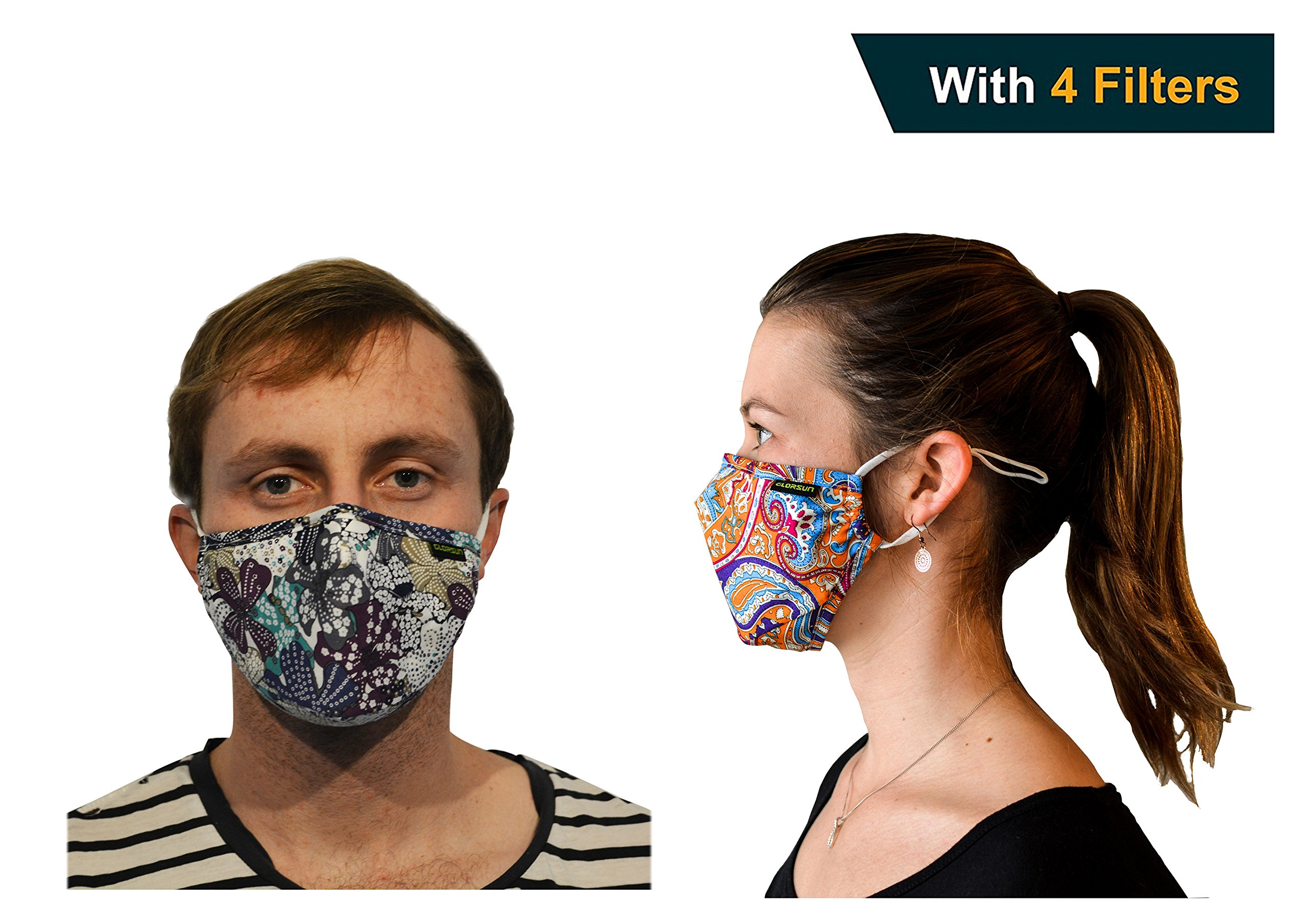 Anti Dust Face Mask - 2 Pack Unisex - Reusable - Dust proof - Perfect For Woman, Men And Teens.