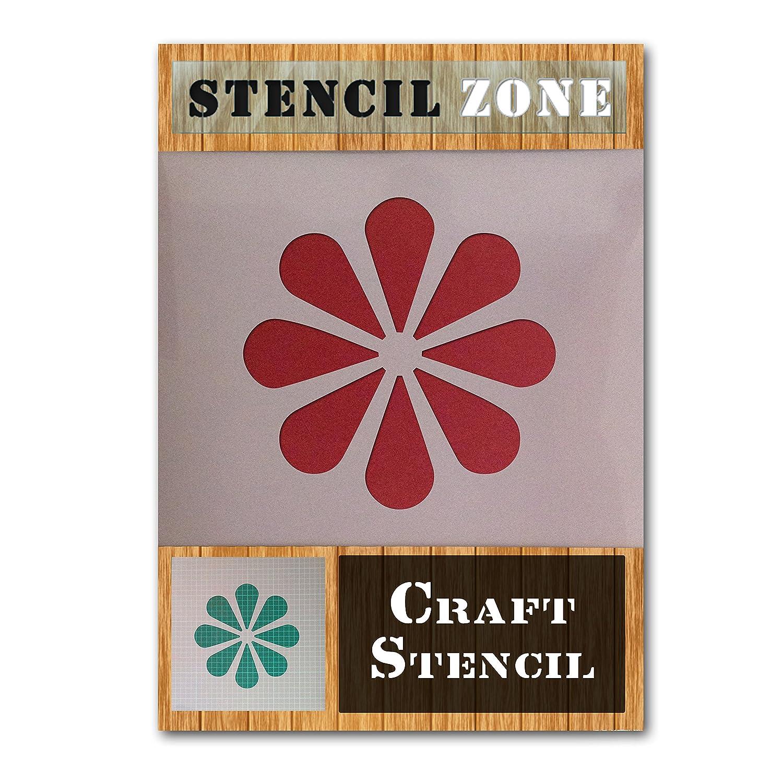 Flower Beautiful Summer Design Mylar Airbrush Painting Wall Art Crafts Stencil 9 (A1 Size Stencil - Xlarge) STENCIL ZONE