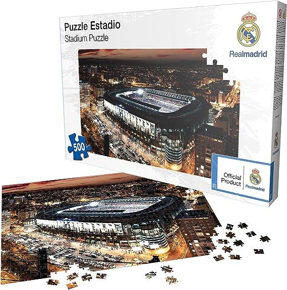 Puzle De 500 Piezas Del Santiago Bernabéu Real Madrid Cf Rompecabezas Producto Oficial Licenciado Amazon Es Juguetes Y Juegos